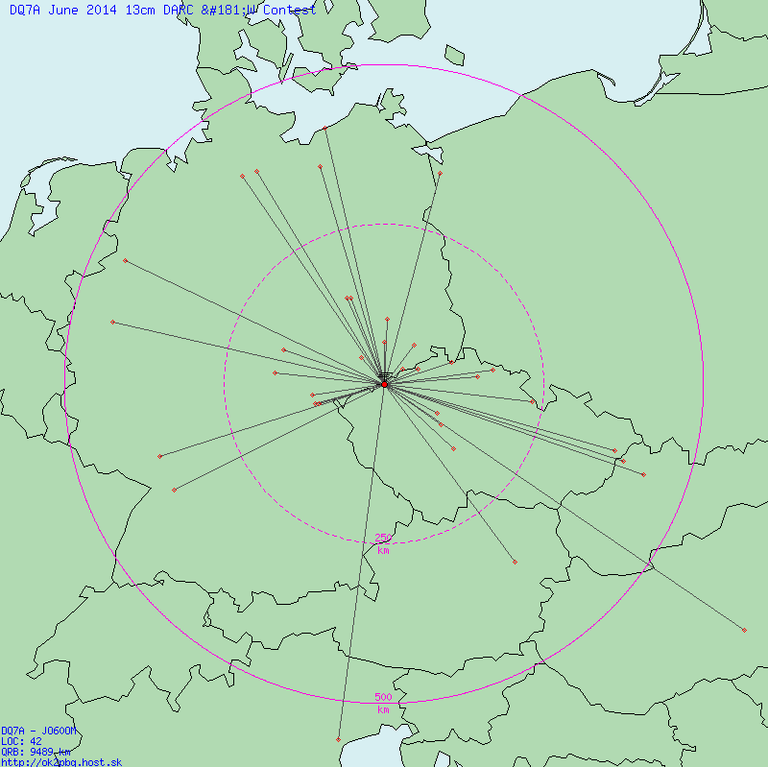 QSO Map Jun 2014 13cm